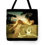 Girl In A Fountain Basin Tote Bag