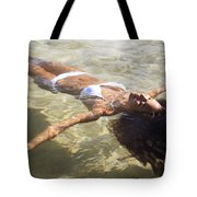 Young Woman In The Water Tote Bag by Brandon Tabiolo - Printscapes