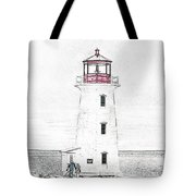 You're My Beacon Peggy's Cove Lighthouse Tote Bag