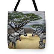 Zebra African Outback  Tote Bag