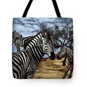 Zebra Outback  Tote Bag