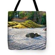 Zen Garden At A Sunny Morning Tote Bag by Ulrich Schade