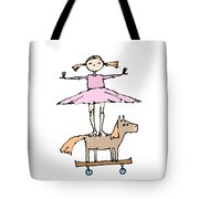 Zoozie And The Amazing Horsie Horse Tote Bag