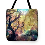 10 Abstract Japanese Maple Tree Tote Bag