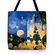 Abstract Painting - Dark Jungle Green Tote Bag