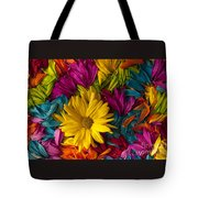 Daisy Petals Abstracts Tote Bag