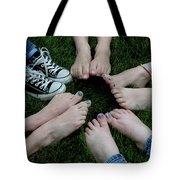 10 Kids Feet Tote Bag