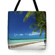 Main Beach Of Tropical Paradise Boracay Island Philippines Tote Bag