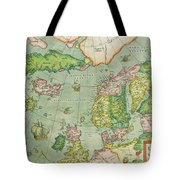 Old Map Tote Bag