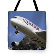 Qatar Airlines Airbus A380 Tote Bag