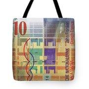 10 Swiss Franc Bill Tote Bag