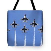 Us Air Force Thunderbirds Flying Preforming Precision Aerial Maneuvers Tote Bag