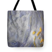 10. V2 Speckled Blue And Yellow Glaze Painting Tote Bag