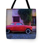 Vintage Car In Colonia Del Sacramento, Uruguay Tote Bag