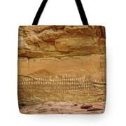 100 Hands Pictograph Panel Tote Bag