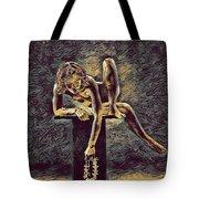 1003s-zac Necklace Of Bones Held By Beautiful Nude Dancer Tote Bag