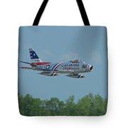 100_4272 F-86 Sabre Fighter Jet Tote Bag