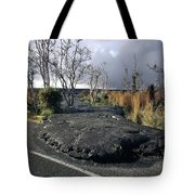 100925 Lava Flow On Road Hi Tote Bag