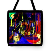 103 -   Psychedelic City Night .. Tote Bag