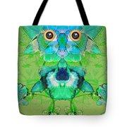 1045   Flower Owl 2017 Tote Bag
