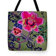 1046 - Pink Flower Simple Greeting Card   A Tote Bag