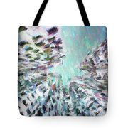 Abstract Digital Oil Painting Full Of Texture And Bright Color Tote Bag