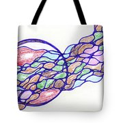 Abstract Pencil Pattern Tote Bag
