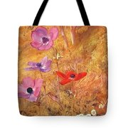 anemones 1876 Henry Roderick Newman Tote Bag