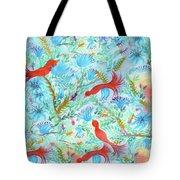 Birds Symphony Tote Bag