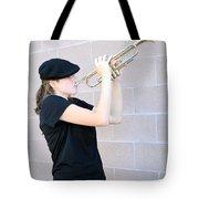 Female Trumpet Player. Tote Bag