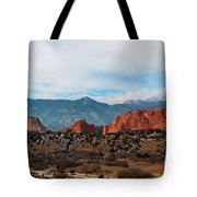 Garden Of The Gods And Pikes Peak Tote Bag