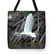 Great Egret Building A Nest Tote Bag