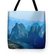 Karst Mountains And Lijiang River Scenery Tote Bag