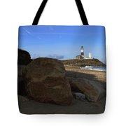 Montauk Point Lighthouse Montauk New York Tote Bag
