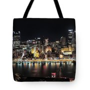 Pittsburgh Skyline At Night Tote Bag