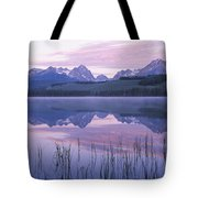 Reflection Of Mountains In A Lake Tote Bag