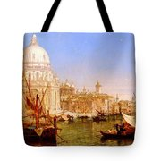 selous Henry Courtney A View Along The Grand Canal With Santa Maria Della Salute Henry Courtney Selous Tote Bag
