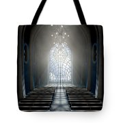 Stained Glass Window Church Tote Bag