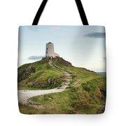 Stunning Summer Landscape Image Of Lighthouse On End Of Headland Tote Bag