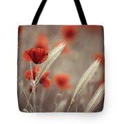 Summer Poppy Meadow Tote Bag