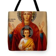 Virgin And Child Religious Art Tote Bag