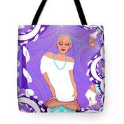 1103  Yoga Lady Fractal 2017 Tote Bag