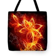 112775 Flowers Fire Tote Bag