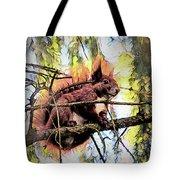 11451 Red Squirrel Sketch Tote Bag