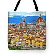 1167 Florence Italy Panorama Tote Bag