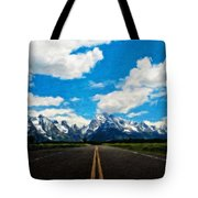 Nature Landscape Artwork Tote Bag