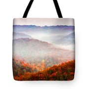 Nature Art Original Landscape Paintings Tote Bag