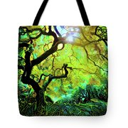 12 Abstract Japanese Maple Tree Tote Bag