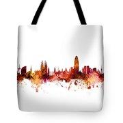 Barcelona Spain Skyline Tote Bag