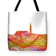 Cheyenne Wyoming Skyline Tote Bag